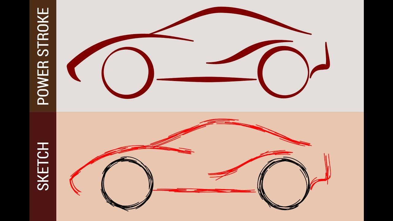 Line Art Inkscape : Inkscape tutorial car line art and sketch using power