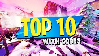 TOP 10 BEST Fortnite MAP CODES En mode créatif (fr) Fortnite Creative Maps CODES (en)
