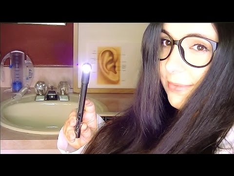 ASMR Binaural Ear Examination Role Play: Doctor Feather will see you now!