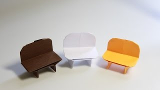 How To Make An Origami Chair - Origami Bench (henry Phạm)