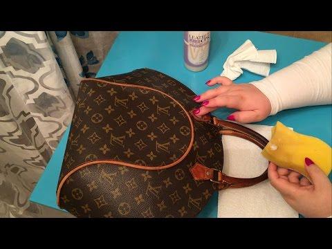 ASMR Vuitton Ellipse MM Vintage Bag Cleaning ~ Whisper