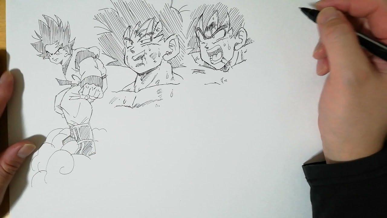 子供頃よく模写した孫悟空のまとめ描き・・第一弾!!!【ドラゴンボール/Dragon Ball】