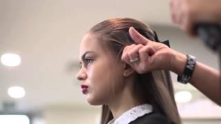 Мастер класс по прическам от салона МОНЕ для Софии Никитчук и Владиславы Евтушенко