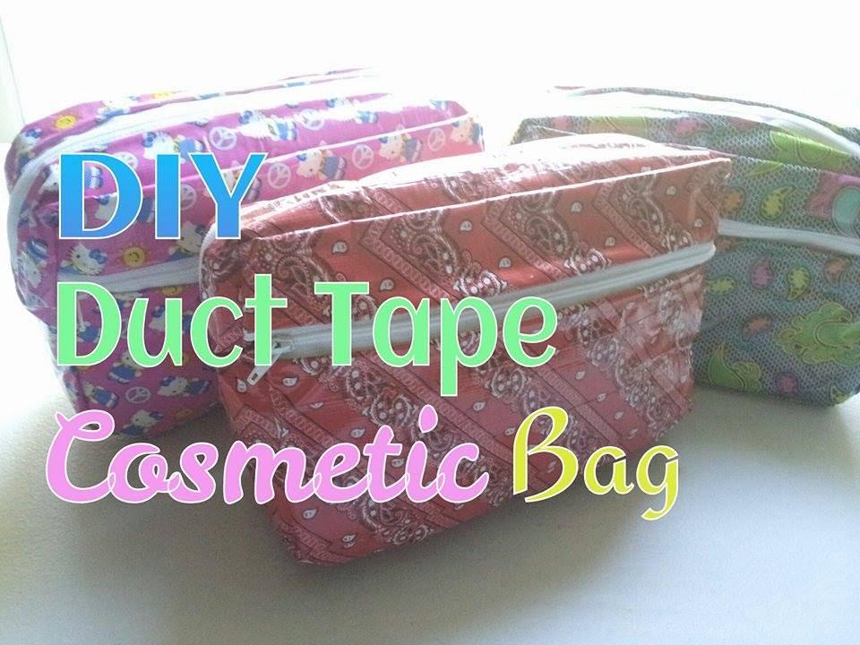 Diy Duct Tape Cosmetic Bag Tutorial