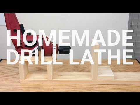How To Make a Drill Lathe