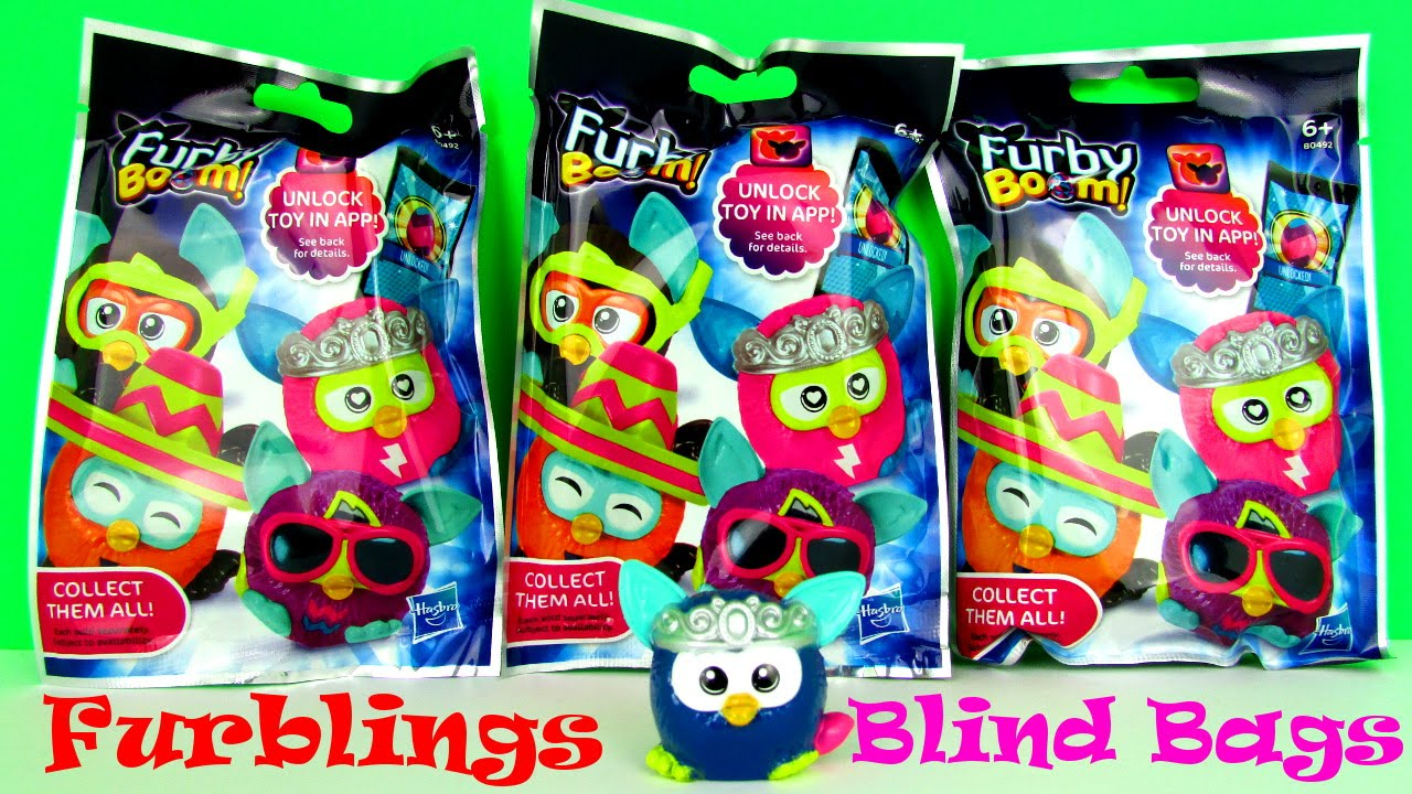 Furby Boom Blind Bag Furbling Mini Figures Kids Toy Review