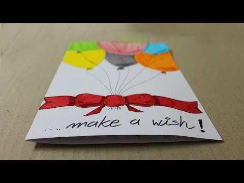 How to make a birthday card with white paper - Handmade Cards