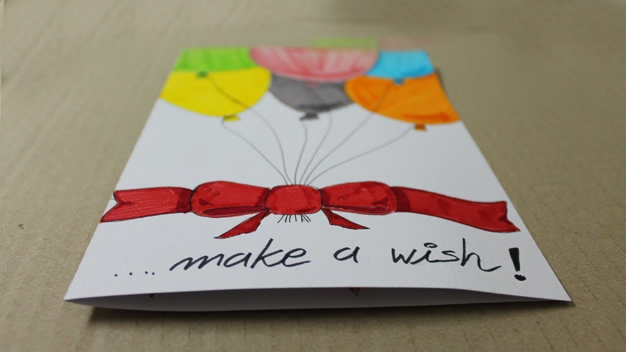 How To Make A Birthday Card With White Paper