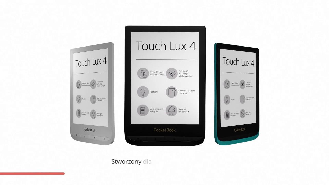 PocketBook - Touch Lux 4. Czytnik, który dotrzyma Ci kroku