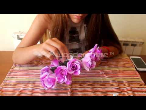 Tutorial Corona De Flores Youtube