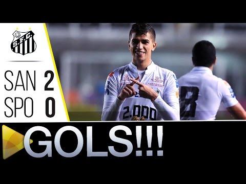 Santos 2 x 0 Sport | GOLS | Brasileirão (15/06/16)