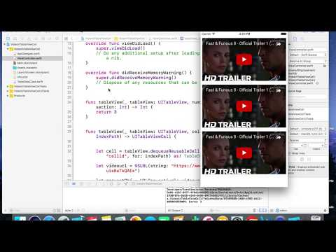 How to Play Videos in UITableViewCell in Swift3 - iOS