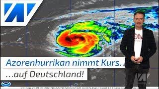 """Azoren-Hurrikan """"Lorenzo"""" nimmt Kurs auf Deutschland!"""