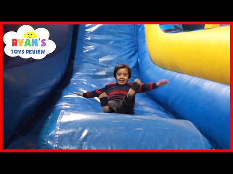 Thumbnail: Indoor Playground for Kids Pump It Up Bounce House and Obstacle Course! Children Play Center