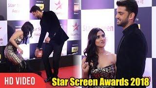 Zaheer Iqbal and Pranutan Bahl at Star Screen Awards 2018   StarPlus   NOTEBOOK Cast
