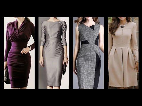 Latest 2019 Fashion New Styles Bodycon Dresses Design/office Work Meeting Women's Dresses
