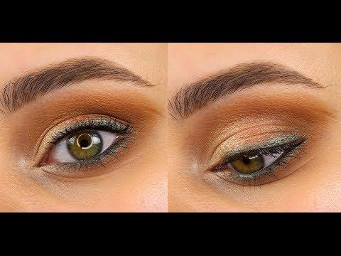 Повседневный макияж с зелёным акцентом
