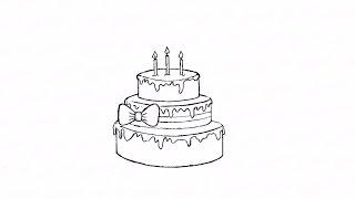 Как нарисовать карандашом торт со свечами: инструкция от EvriKak