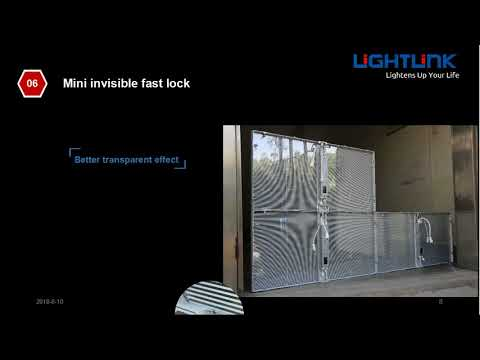 Lightlink LX-CR Crystal transparent rental led screen