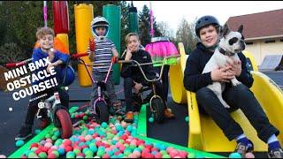 Mini Bmx Obstacle Course!! Fatboy Mini Rocker Bikes!