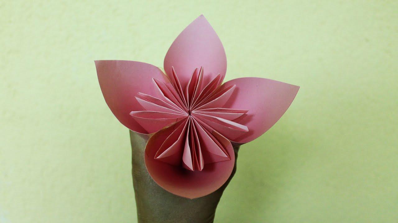 Comment faire une fleur en papier youtube - Comment faire une chaussure en papier ...