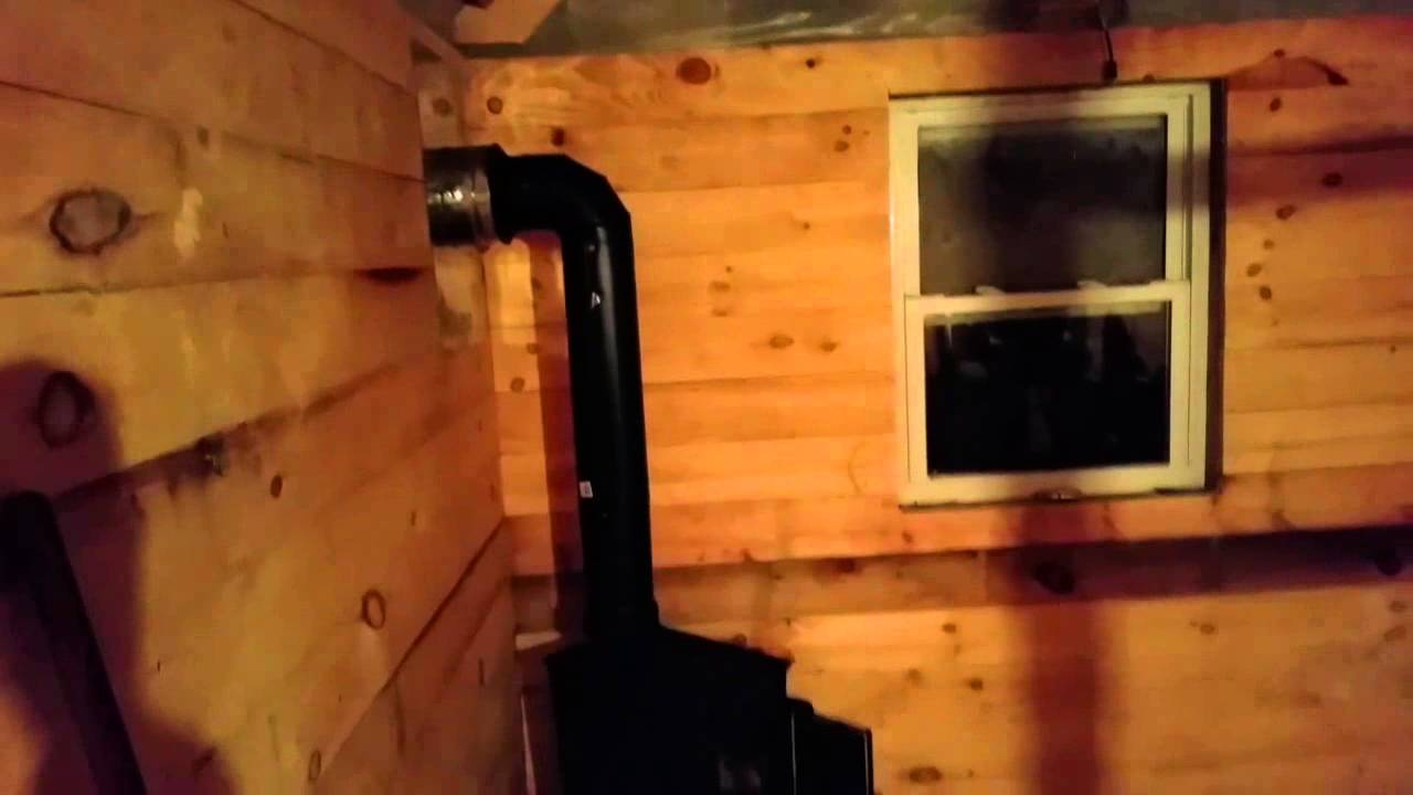 - Off Grid Cabin Update - Woodstove Installation - 1-1-2015 - YouTube