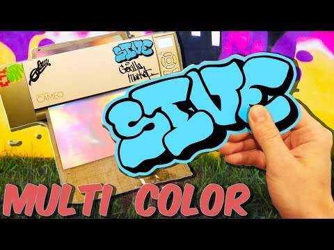 How To Make Multi Color Vinyl Decal Stickers - Silhouette Cameo