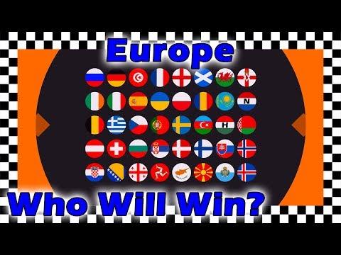 Marble Race Plinko Country Balls World Tournament - Europe Race 2 Of 5 Algodoo