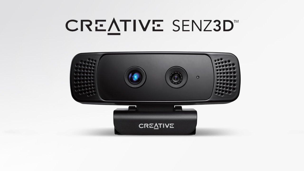 Creative Senz3D depth and gesture camera setup video