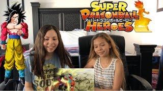 ¡Super Saiyan Blue VS Super Saiyan 4! Dragon Ball Heroes Episode 1 Reaction