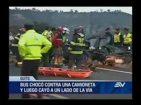 Lamentable accidente en Guayllabamba deja 27 heridos y 10 muertos