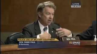 Rand Paul On Police Militarization - Ferguson, Missouri (Flashback 09/09/2014)