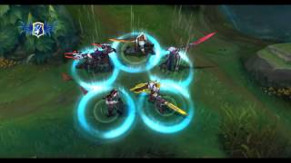 LoL - Project Skins Group Recall - Zed/Lucian/Leona/Fiora/Master YI - PBE Patch 5.17