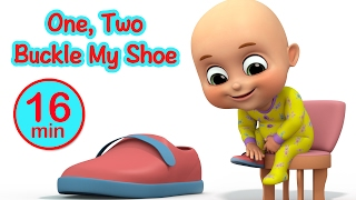 One Two Buckle My Shoe - Number Learning song for Kids - Nursery Rhymes from Jugnu Kids