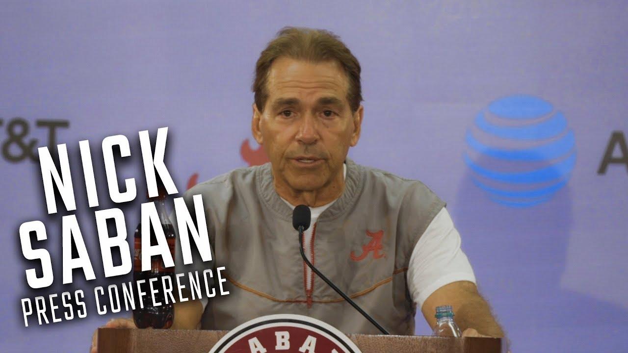 Aane Conference At Lasell College >> Watch Nick Saban During His Weekly Press Conference Youtube