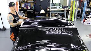 HOW-TO WRAP YOUR ROOF IN GLOSS BLACK - SUPER DETAILED POV | LEXUS RC 300