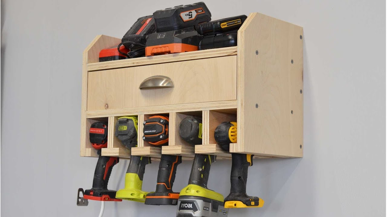 Build A Cordless Drill Charge Station And Tool Organizer Youtube