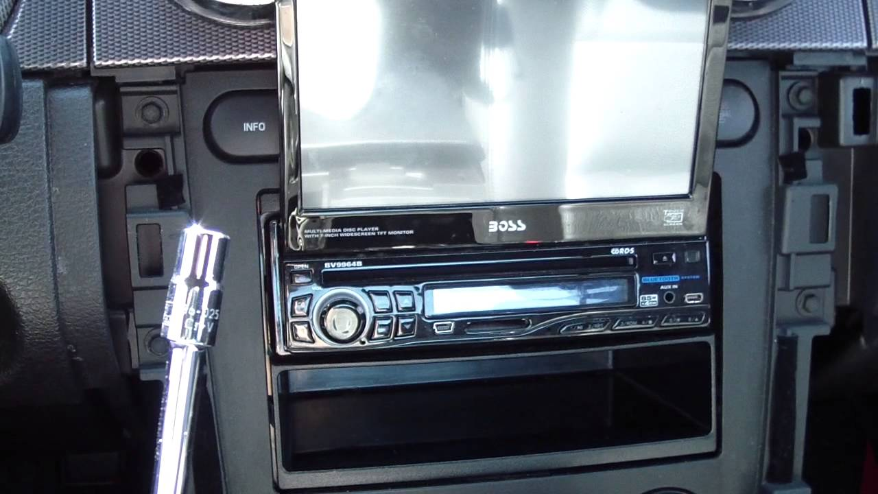 how to remove install add car radio stereo receiver in a ford mustang 2005 2009 diy youtube [ 1280 x 720 Pixel ]