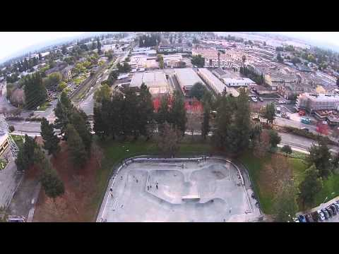 Flying over San Jose, Sunnyvale Skate Park and Aptos with the Phantom