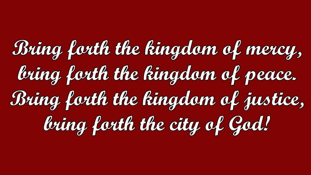Lyric fall afresh on me lyrics : Bring Forth the Kingdom (Marty Haugen) - YouTube