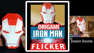 Iron Man Flicker Origami Mask
