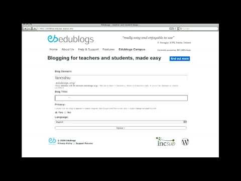 How to sign up for an edublog