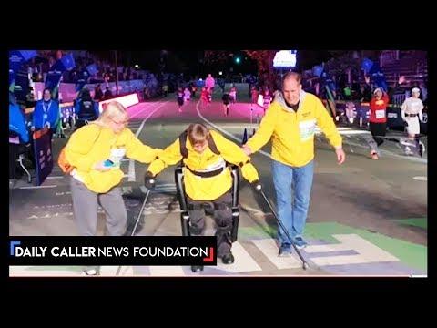 Hooker, DB and Becka - Paralyzed Vet Crosses Finish Line At NYC Marathon Using Exoskeleton