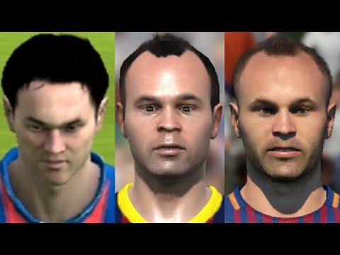 Iniesta Transformation From FIFA 04 To FIFA 18