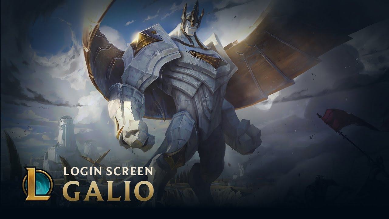 Galio The Colossus Login Screen League Of Legends