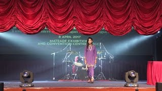 Khalifah - Hang Pi Mana LIVE Drum Cover at Let Chat World Launching - Nur Amira Syahira MP3