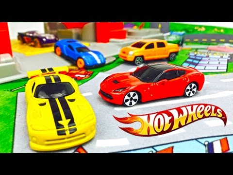 Carros De Carrera Hot Wheels Autos De Colores Para Ninos Videos