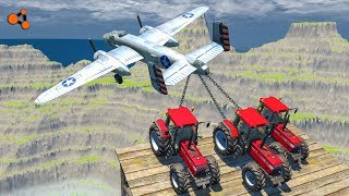 Beamng drive - Tug of War vs. Plane Crashes
