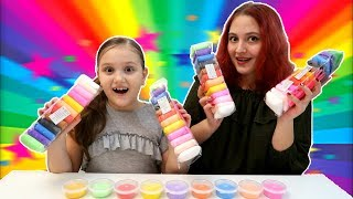 3 Culori SLIME Challenge cu BettyL Club si Laura Vrabie