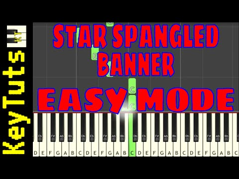 Learn To Play Star Spangled Banner By Francis Scott Key Easy Mode Youtube